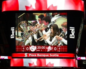 Playing at Scotia Bank 67s hockey game