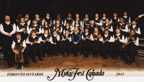 Turnbull School Concert Band achieved Gold Standard at MusicFest Canada Toronto, May 2015